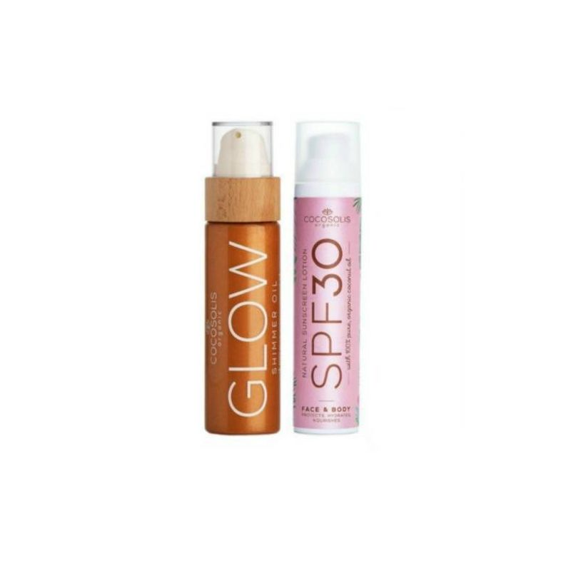 Cocosolis Summer Set με Sunscreen Lotion SPF30 100ml + GLOW Shimmer Oil 110ml - Cocosolis