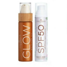 Cocosolis Summer Set με Sunscreen Lotion SPF50 100ml + GLOW Shimmer Oil 110ml -pharmacystories