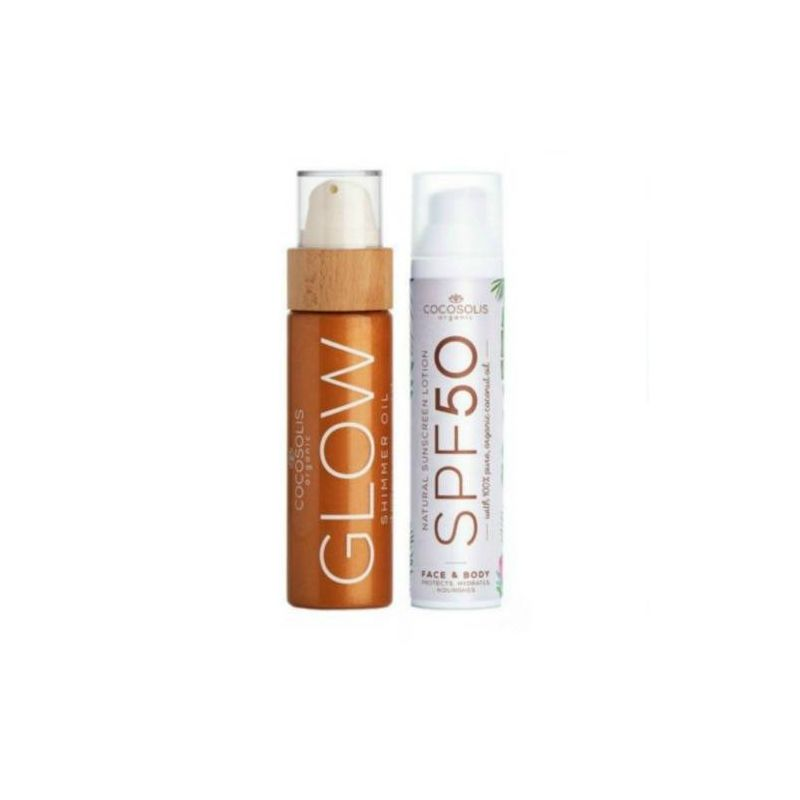 Cocosolis Summer Set με Sunscreen Lotion SPF50 100ml + GLOW Shimmer Oil 110ml - Cocosolis