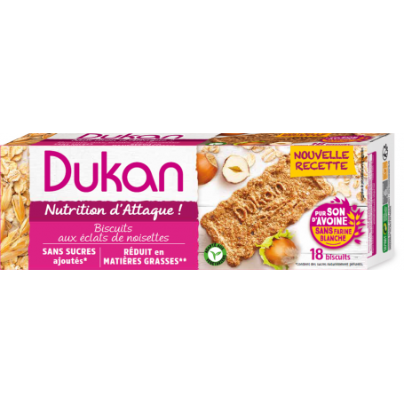 Dukan Μπισκότα βρώμης με γεύση φουντούκι, 225 g-pharmacystories