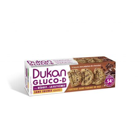 Dukan Μπισκότα βρώμης GLUCO-D με κομμάτια σοκολάτας, 100 g - Dukan