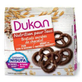 DUKAN Pretzels βρώμης με επικάλυψη σοκολάτας, 100g -pharmacystories