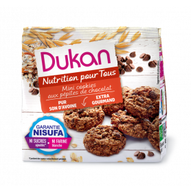 DUKAN Μίνι Cookies βρώμης με κομμάτια σοκολάτας, 100g -pharmacystories