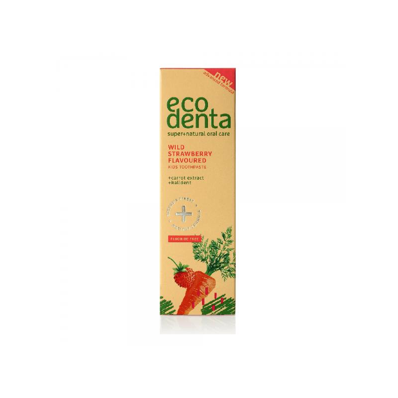 Οδοντόκρεμα για παιδιά με Φράουλα, εκχύλισμα Καρότου και Kalident 75ml – EcoDenta - EcoDenta