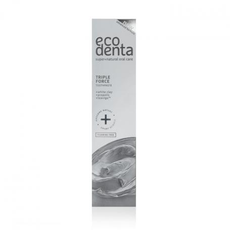 Oδοντόκρεμα τριπλής δράσης με λευκό Άργιλο, Πρόπολη & Teavigo 100ml – EcoDenta - EcoDenta