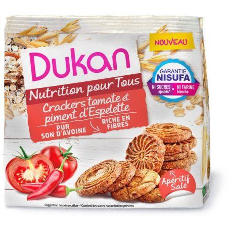 Dukan Κράκερς Βρώμης με Τομάτα και Πιπεριά, 100g - Dukan