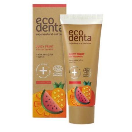 Ecodenta Juicy Fruit Kids Οργανική οδοντόκρεμα Παιδική με Φρούτα 75ml -pharmacystories