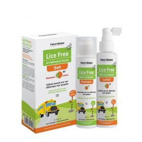 Frezyderm Lice Free Set Sampoo 125ml + Lotion 125ml + Toothed Comb -pharmacystories