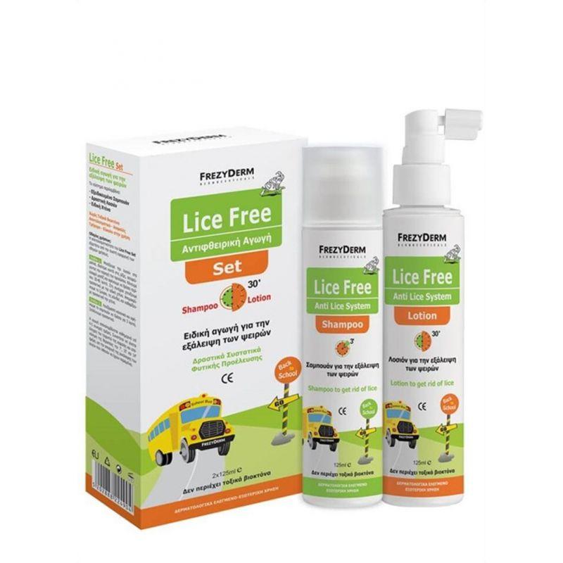 Frezyderm Lice Free Set Shampoo + Lotion 2x125ml - Frezyderm