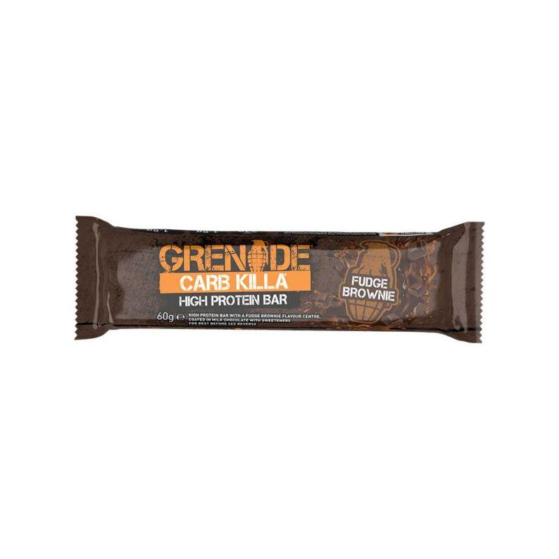 Grenade Card Killa Fudge Brownie Μπάρα Υψηλής Πρωτεΐνης 60gr - Grenade