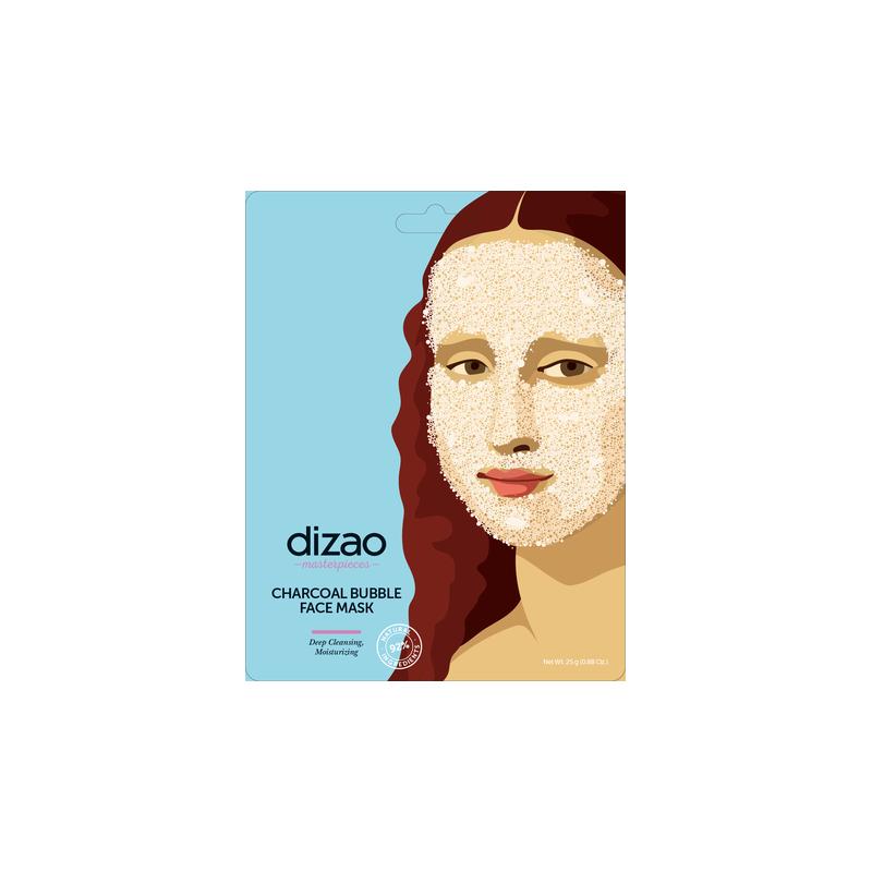 Dizao Charcoal Bubble Face Mask 1τεμ - Dizao Natural