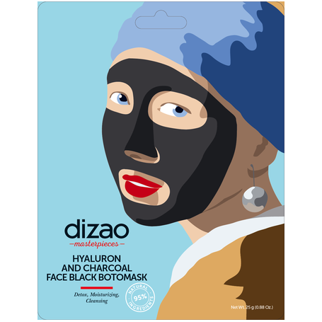 Dizao Hyaluron and Charcoal Face Black BotoMask 1τεμ - Dizao Natural
