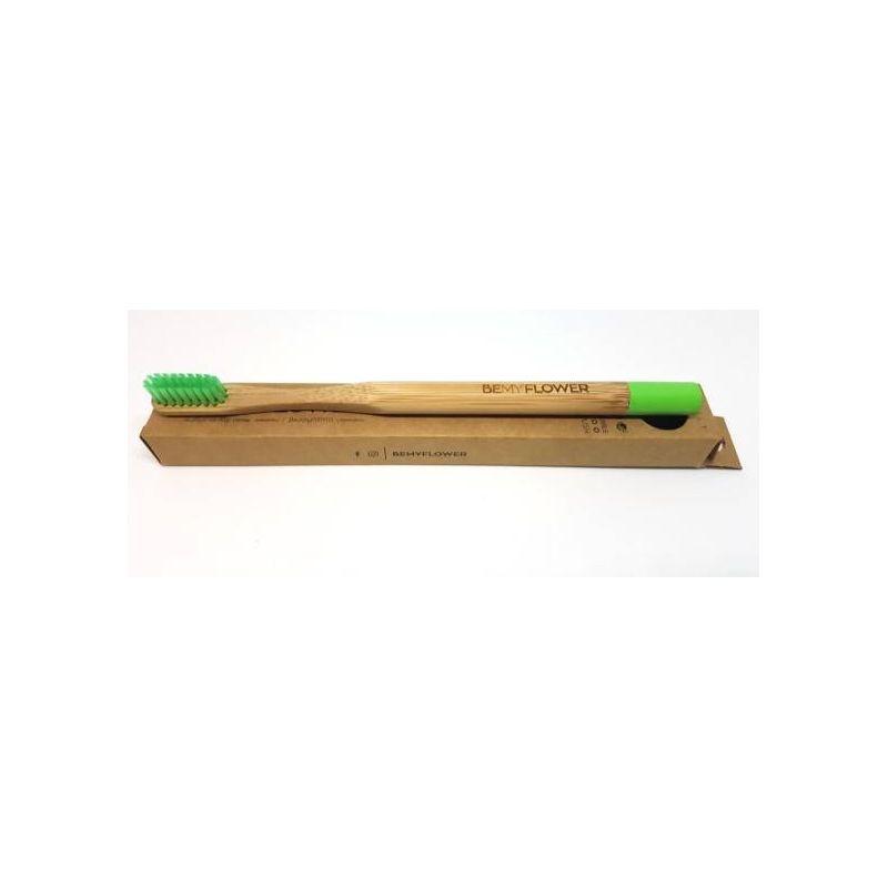 BeMyFlower Μπαμπού Οδοντόβουρτσα Πράσινη - Soft - BeMyFlower