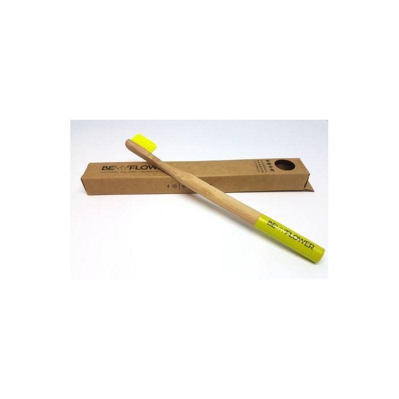 Bemyflower Οδοντόβουρτσα Μπαμπού Ενηλίκων extrasoft Χρώμα Κίτρινο - BeMyFlower