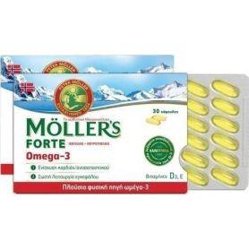 Moller's Forte Omega-3 30 κάψουλες - Moller's