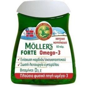 Moller's Forte Omega-3 60 κάψουλες - Moller's