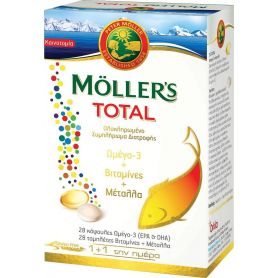Moller's Total 28 ταμπλέτες & 28 κάψουλες-pharmacystories