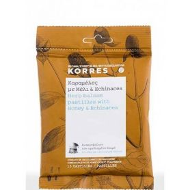 Korres Καραμέλες με Μέλι και Echinacea 15τμχ - Korres