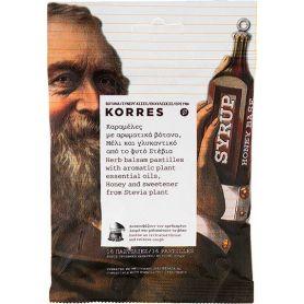 Korres Καραμέλες με Αρωματικά Βότανα, Μέλι & Γλυκαντικό Στέβια 16τμχ - Korres