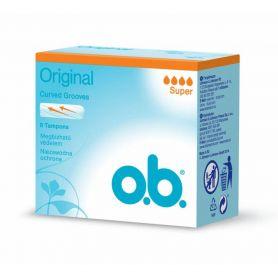 O.B. ProComfort Curved Grooves Super 8τμχ - O.B.