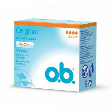 O.B. ProComfort Curved Grooves Super 8τμχ