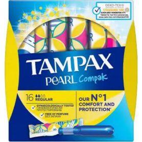 TAMPAX Pearl Compak Regular Ταμπόν 16 Τεμάχια - Tampax