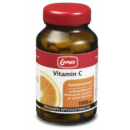 Lanes Vitamin C 1000mg 60 μασώμενες ταμπλέτες - Lanes
