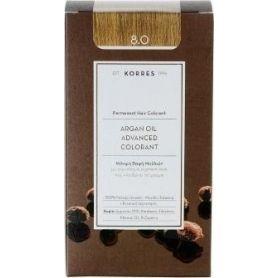 Korres Argan Oil Advanced Colorant 8.0 Ξανθό Ανοιχτό Φυσικό - Korres