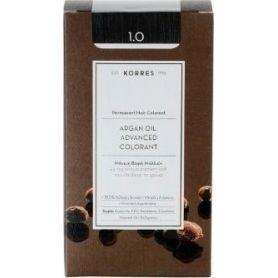 Korres Argan Oil Advanced Colorant 1.0 Μαύρο Φυσικό -pharmacystories