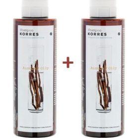 Korres Σαμπουάν Για Λιπαρά Μαλλιά Με Γλυκύρριζα & Τσουκνίδα 2x250ml - Korres