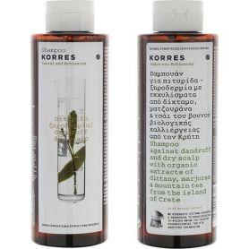Korres Σαμπουάν Για Πιτυρίδα/Ξηροδερμία Δάφνη & Echinacea 2x250ml - Korres