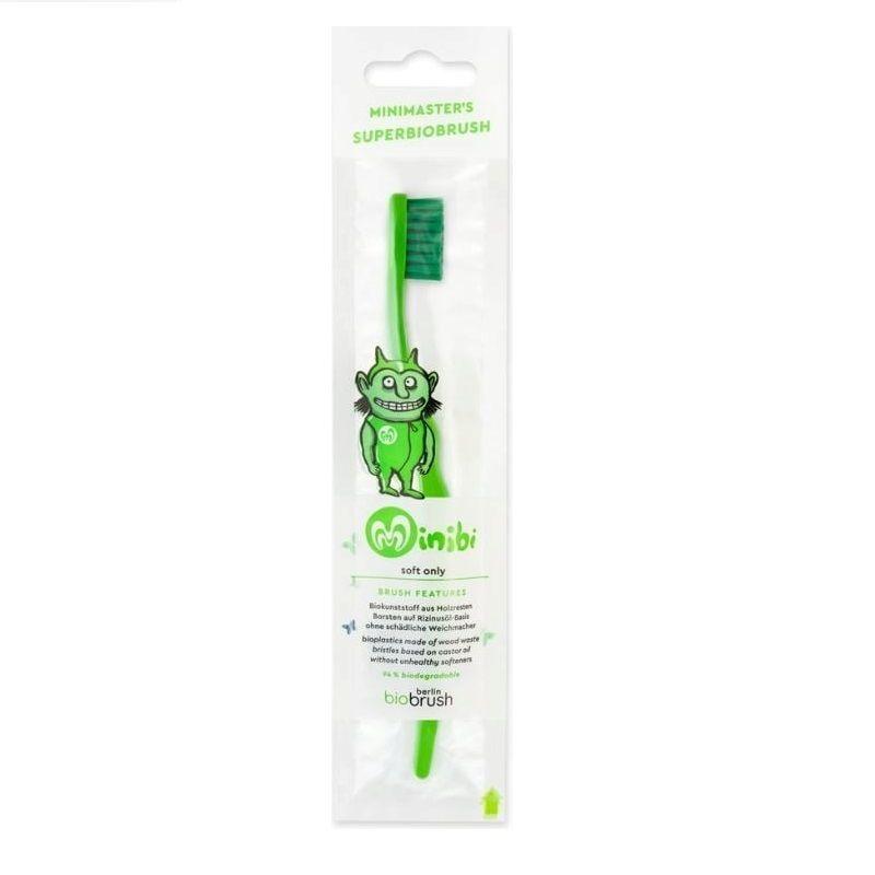 Παιδική οδοντόβουρτσα Πράσινη Απαλή (Green Soft) – BioBRUSH - Berlin BioBrush