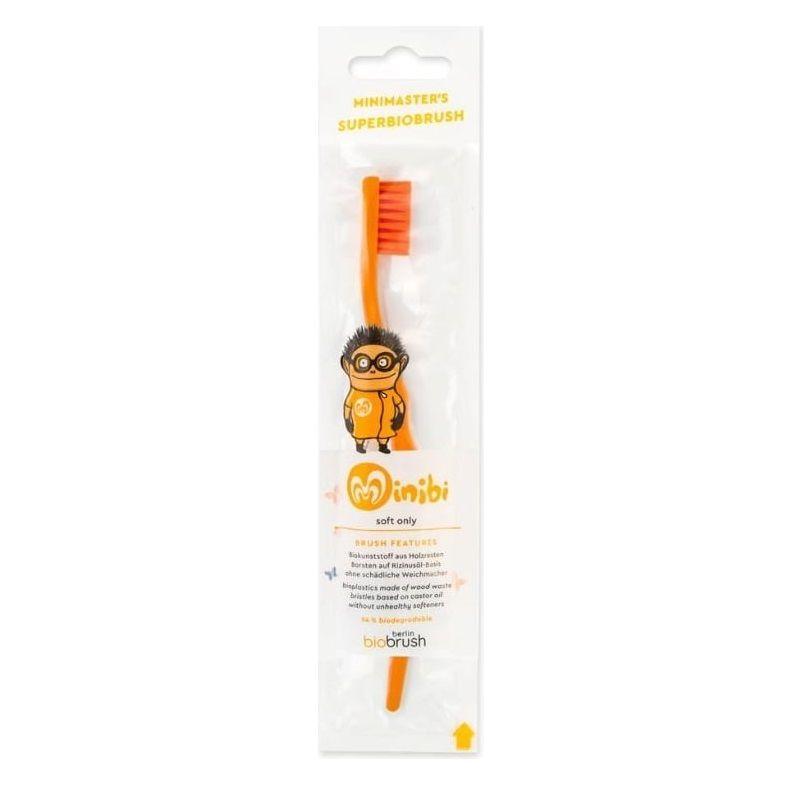 Παιδική οδοντόβουρτσα Πορτοκαλί Απαλή (Orange Soft) – BioBRUSH - Berlin BioBrush