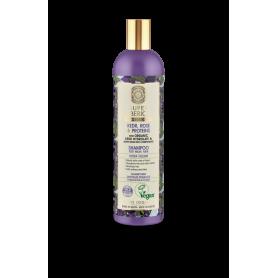 Super Siberica Kedr, Rose & Proteins, Σαμπουάν για πολυδιάστατο όγκο, για αδύναμα μαλλιά, 400ml.-pharmacystories