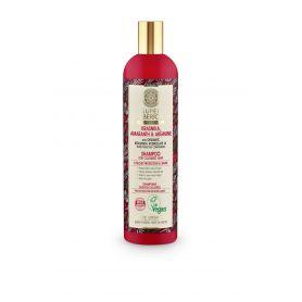Super Siberica, Krasnika, Amaranth & Arginine, Σαμπουάν για προστασία βαφής και λάμψη, για βαμμένα μαλλιά, 400ml.