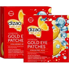 Dizao Natural Natural Hydrogel Gold Eye Patches Hyaluronic Acid 100% 5τμχ - Dizao Natural