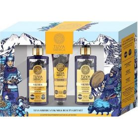 Tuva Siberica Yak milk beauty gift set (Shampoo 300ml +Conditioner +Hand Cream)