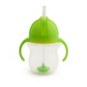 Munchkin Tip & Sip Straw Cup Ποτήρι με Καλαμάκι 6m+, Πράσινο, 207ml - Munchkin