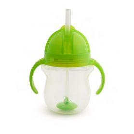 Munchkin Tip & Sip Straw Cup Ποτήρι με Καλαμάκι 6m+, Πράσινο, 207ml-pharmacystories