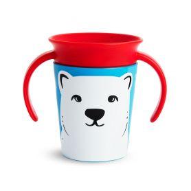 Munchkin Miracle 360° Trainer Cup 6m+ Polar Bear Εκπαιδευτικό Κύπελλο με Λαβές Πολική Αρκούδα, 177ml -pharmacystories