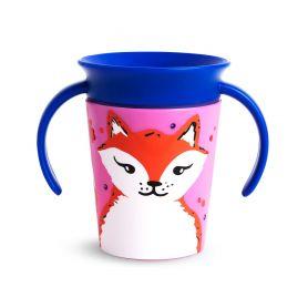Munchkin Miracle 360° Trainer Cup 6m+ Fox Εκπαιδευτικό Κύπελλο με Λαβές Αλεπού, 177ml - Munchkin