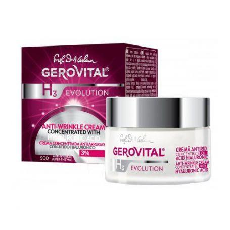 Gerovital H3 Evolution Αντιρυτιδική Κρέμα με Συμπυκνωμένο Υαλουρονικό Οξύ-pharmacystories