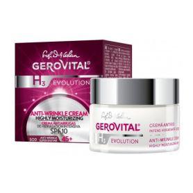 Gerovital H3 Evolution Αντιρυτιδική Κρέμα Εντατικής Ενυδάτωσης SPF10 50ml - Gerovital