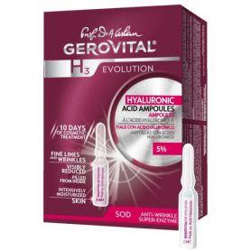 Gerovital H3 Evolution Αμπούλες Υαλουρονικού Οξέως 5% 10x 2ml - Gerovital