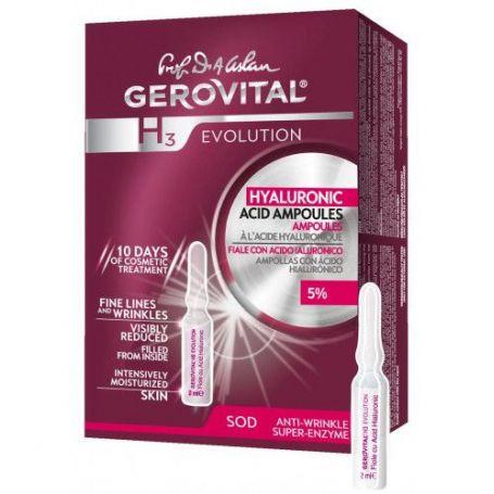 Gerovital H3 Evolution Αμπούλες Υαλουρονικού Οξέως 5% 10x 2ml -pharmacystories
