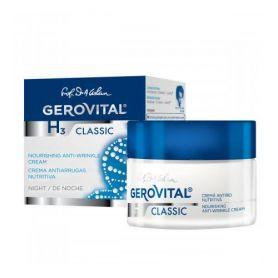 Gerovital H3 Classic Θρεπτική Αντιρυτιδική Κρέμα Νυκτός 50ml - Gerovital