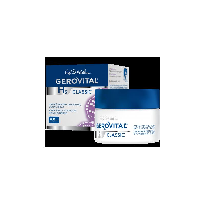 Gerovital H3 Classic Αντιρυτιδική Κρέμα για Ώριμο, Ξηρό Δέρμα με Ρυτίδες 50ml - Gerovital
