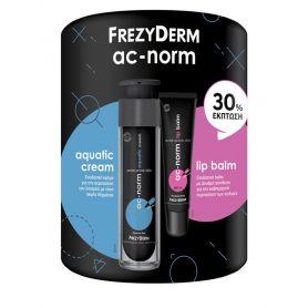 Frezyderm Ac-Norm Aquatic Cream & Ac-Norm Lip Balm Spf 15 με -30% Έκπτωση-pharmacystories