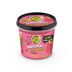 Planeta Organica Skin Super Good, Φυσικό απολεπιστικό σώματος «Lichee Bubble Gum», για λείανση, 360ml-pharmacystories