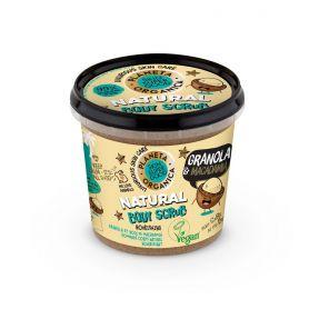 Planeta Organica Skin Super Good, Φυσικό απολεπιστικό σώματος «Granola & Macadamia», για θρέψη, 360 ml - Natura Siberica